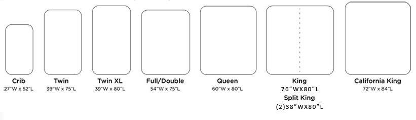 mattress size examples with measurements