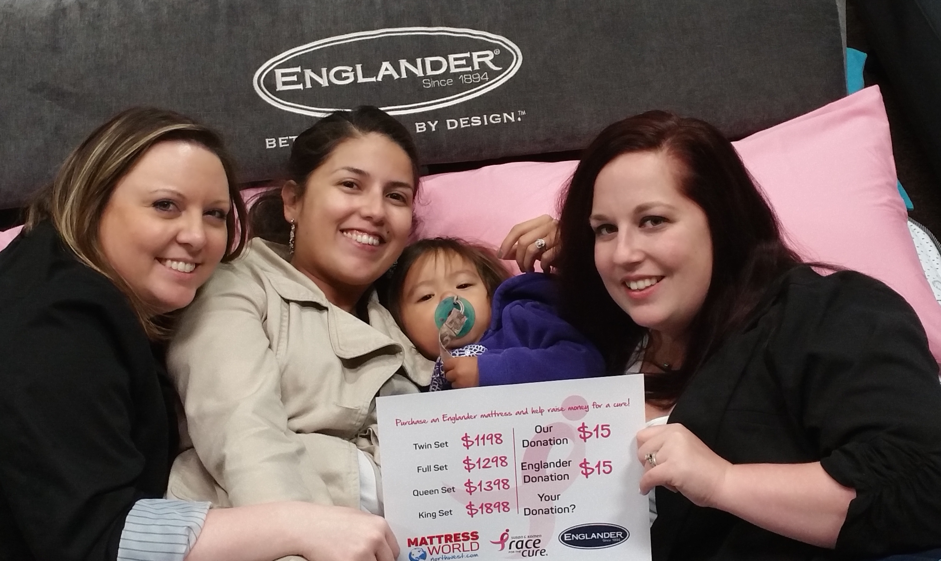 Mattress World Northwest Supports Race For The Cure
