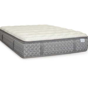 grey in white mattress against white background