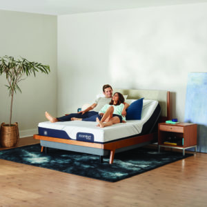 iComfort on adjustable couple lounging