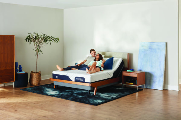 iComfort on adjustable couple lounging