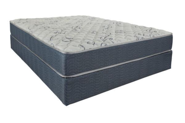 blue and grey mattress