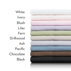 Stack of sheets with different colors