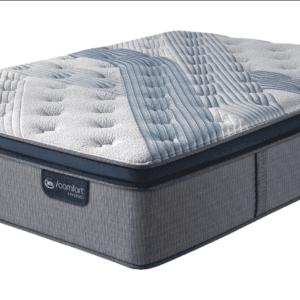 grey and blue mattress