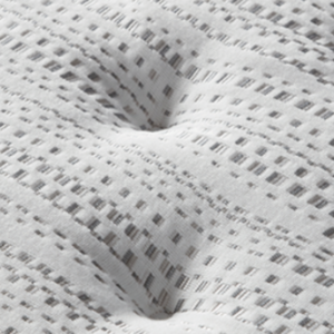 close up of white tufted mattress top