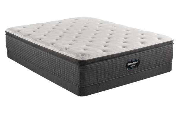 grey and white high profile mattress
