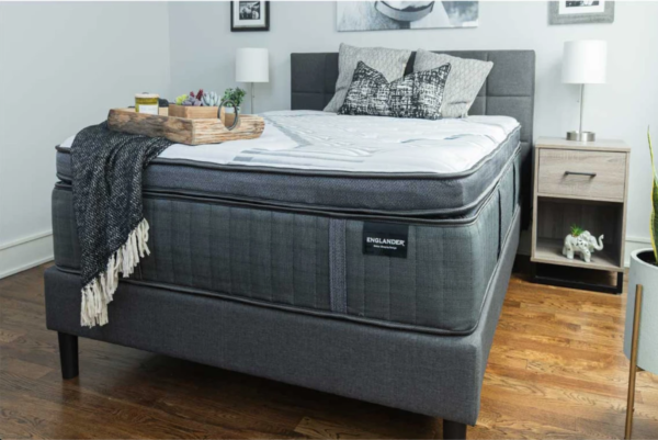 grey mattress with white top