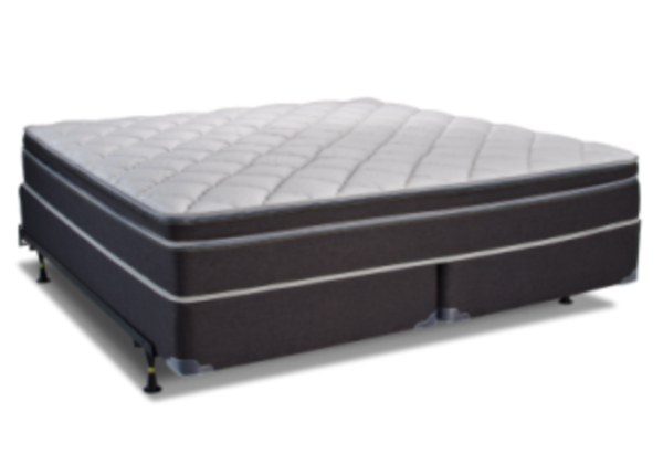 dark grey plush white top mattress