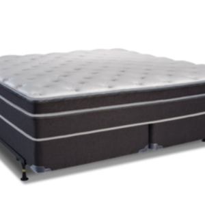dark grey white top plush mattress