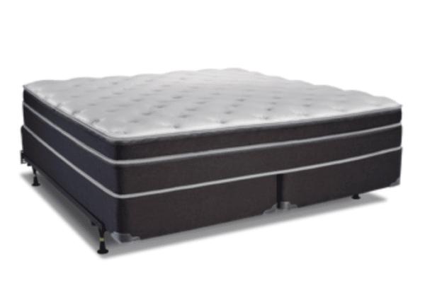 dark grey white top plush mattress