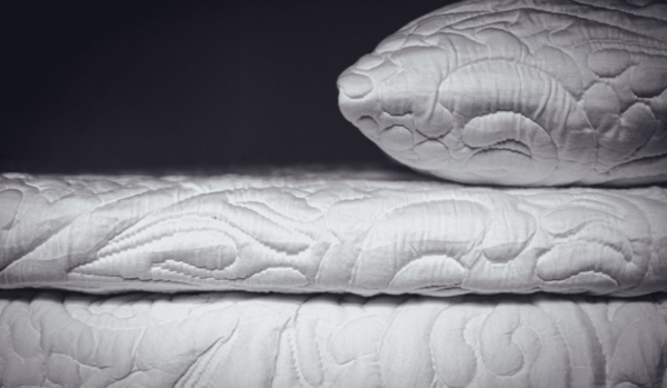 embroidered ivory 3in mattress topper