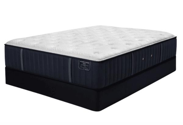 navy and white mattress