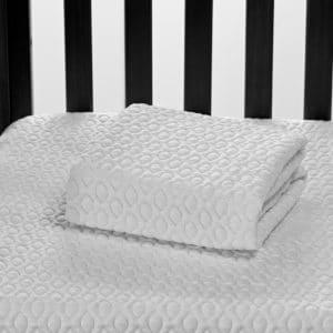 crib protector folded