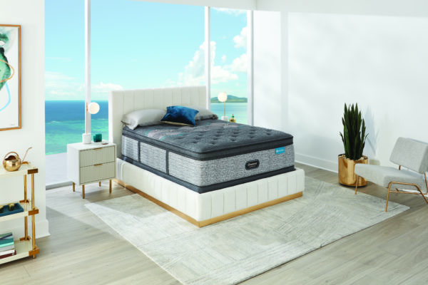 Beautyrest Lux Diamond Pillow Top Angled In Room