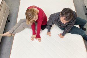 mattress shopping couple