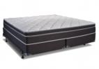 dark grey plush white top mattress